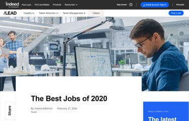 Indeedが発表したThe Best Jobs of 2020から見るIT系技術者の給与と将来性